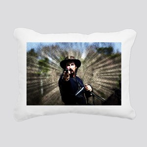 Civil War Sunburst Rectangular Canvas Pillow