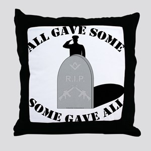 Our Brave Brother Masons Throw Pillow