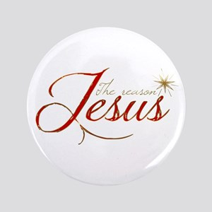 """Jesus is the reason for the season 3.5"""" Button"""