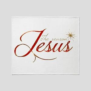 Jesus is the reason for the season Throw Blanket