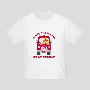 Fire Truck 3rd Birthday Boy Toddler T-Shirt