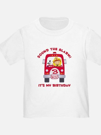 Fire Truck 3rd Birthday Boy T