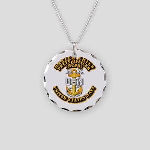 Navy - CPO - MCPO Necklace Circle Charm