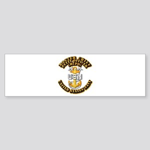Navy - CPO - MCPO Sticker (Bumper)