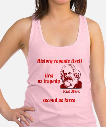 Karl Marx on History Racerback Tank Top