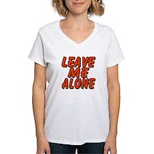 Leave Me Alone Women's V-Neck T-Shirt