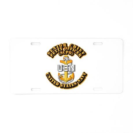 Navy - CPO - SCPO Aluminum License Plate