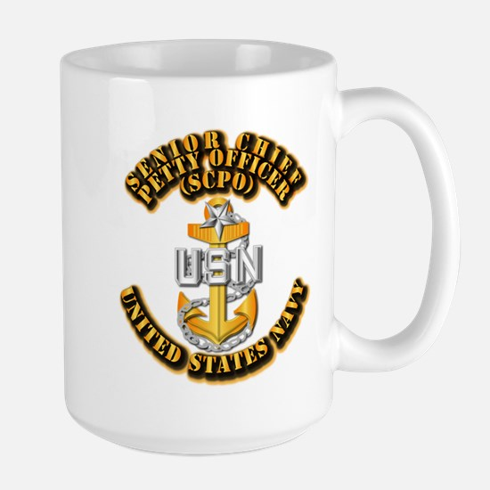 Navy - CPO - SCPO Large Mug