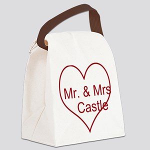 Mr. and Mrs. Castle Canvas Lunch Bag