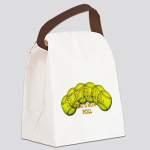 2-Balls roll png Canvas Lunch Bag