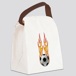 2-Fire png Canvas Lunch Bag
