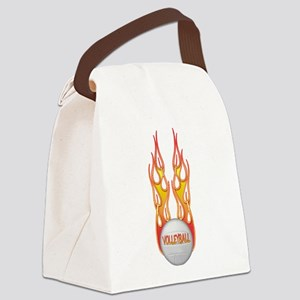 Fire png Canvas Lunch Bag