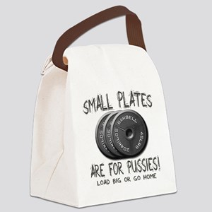Small plates png Canvas Lunch Bag