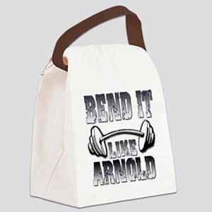 Bend it png Canvas Lunch Bag