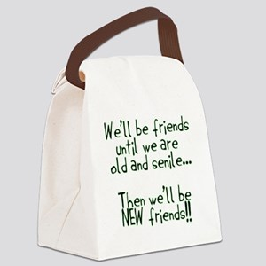 Well be friends png Canvas Lunch Bag