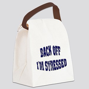 Back off Canvas Lunch Bag