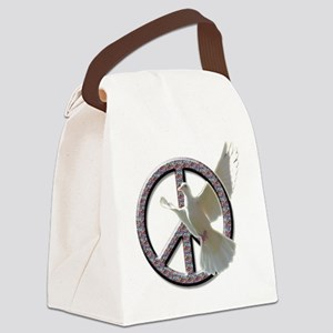 Peace dove png Canvas Lunch Bag