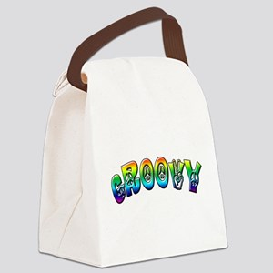 Groovy Canvas Lunch Bag