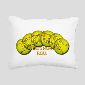 2-Balls roll png Rectangular Canvas Pillow