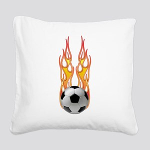 2-Fire png Square Canvas Pillow