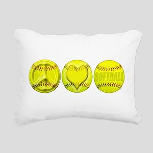 P,L,S, png Rectangular Canvas Pillow