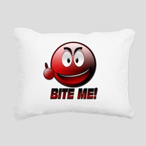 Bite me png Rectangular Canvas Pillow