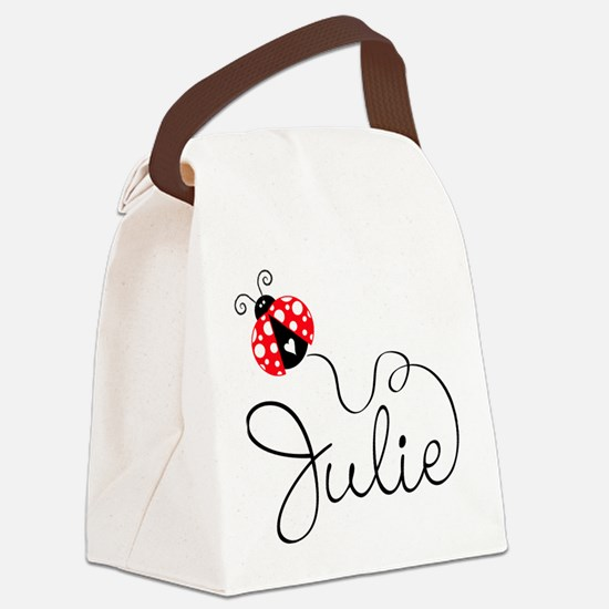 Ladybug Julie Canvas Lunch Bag