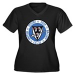 USS HALSEY Women's Plus Size V-Neck Dark T-Shirt