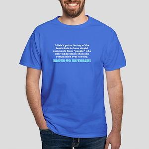 Food chain...vegan - Dark T-Shirt