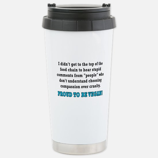 Food chain...vegan - Stainless Steel Travel Mug
