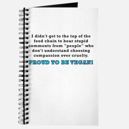 Food chain...vegan - Journal