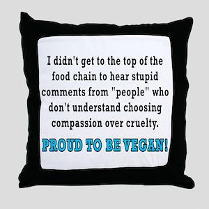 Food chain...vegan - Throw Pillow