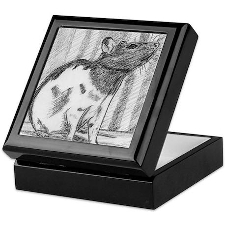 Black hooded Fancy Rat Keepsake Box