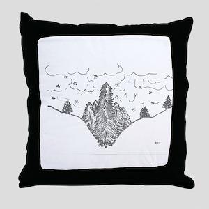 Finger Forest Throw Pillow