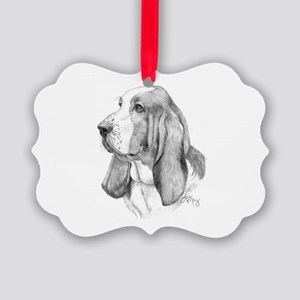 Basset Hound Picture Ornament