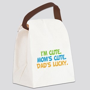 ImCuteMomsCuteDadsLucky Canvas Lunch Bag