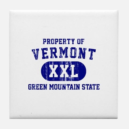 Property of Vermont, Green Mountain State Tile Coa