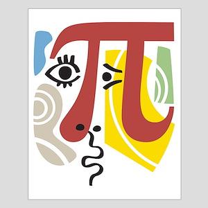 Pi Symbol Pi-Casso Small Poster
