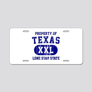 Property of Texas, Lone Star State Aluminum Licens