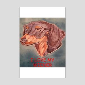 I Love My Wiener Mini Poster Print
