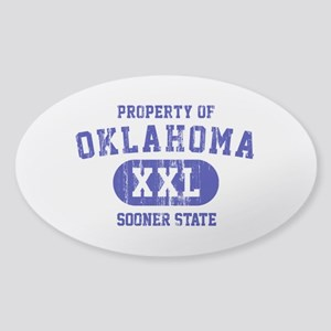 Property of Oklahoma the Sooner State Sticker (Ova