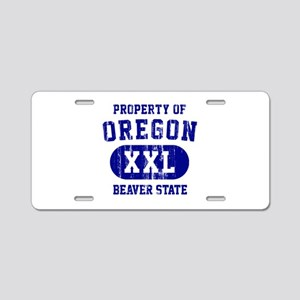 Property of Oregon the Beaver State Aluminum Licen