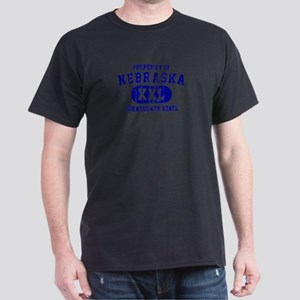 Property of Nebraska the Cornhuskers State Dark T-