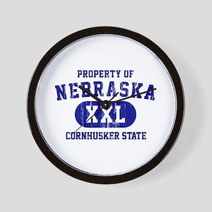 Property of Nebraska the Cornhuskers State Wall Cl