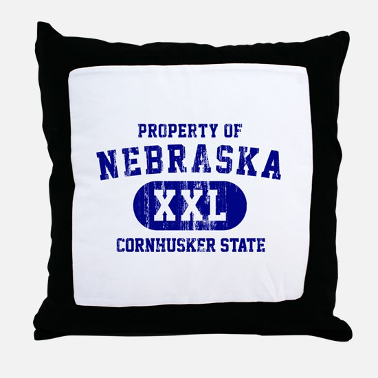Property of Nebraska the Cornhuskers State Throw P