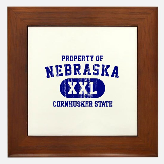 Property of Nebraska the Cornhuskers State Framed