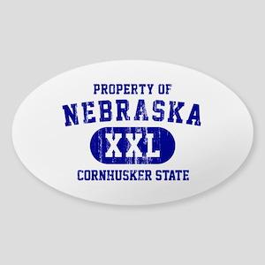 Property of Nebraska the Cornhuskers State Sticker