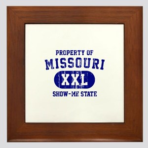 Property of Missouri the Show Me State Framed Tile