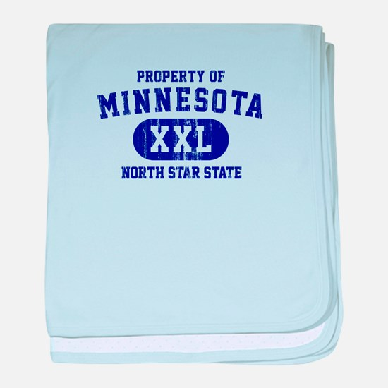 Property of Minnesota, North Star State baby blank