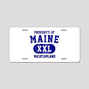 Property of Maine the Vacationland Aluminum Licens